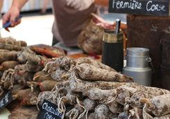 Food market in Bonifacio