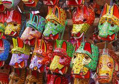 Wooden masks in Guatemala