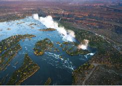 Zambezi river aerial view