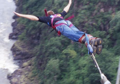 Bungee jumping in the Victoria Falls