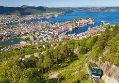 Mount Floyen in Bergen