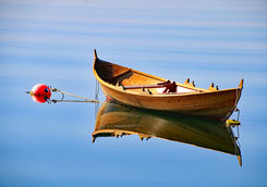 Traditional rowing boat oselvar in Norway