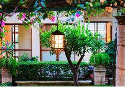 Lanterns in an original garden