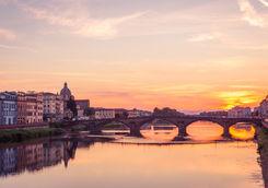 ponte santa trinita sunset