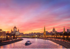 scarlet glow over moscow