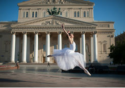 bellerina in the center of moscow