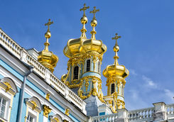 catherine palace with gold cross
