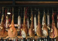 hanging ham