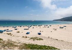 Sandy beach in Tangier