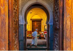 Man in Fez street