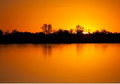 okavango sunset water