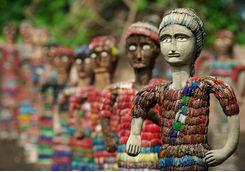 statues rock garden