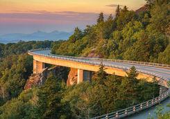 Morning light over the Blue Ridge viaduc