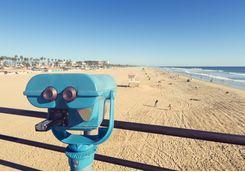binoculars at huntington beach