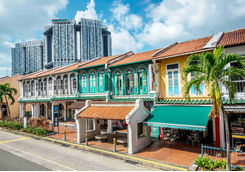 colourful singapore traditional houses