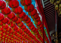 lanterns at the thian hock keng temple