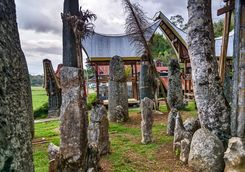 ceremony site with megaliths