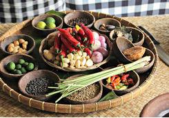 platter of indonesian food