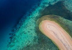 aerial view menjangan island