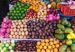 colorful tropical fruit