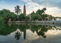 Tran quoc pagoda during sunset