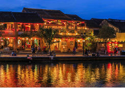 Evening view of old town in Hoi An city