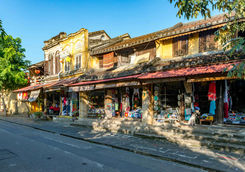 Shopping street in Hoi An old town
