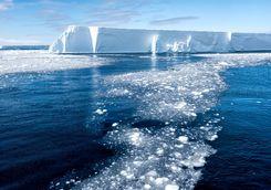 tabular icerberg and brash ice
