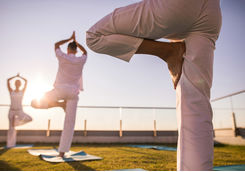 Sunrise yoga