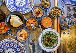 arabic dishes and assorted meze