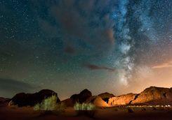 starry sky in the desert