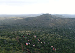 Thanda Safari lodge aerial