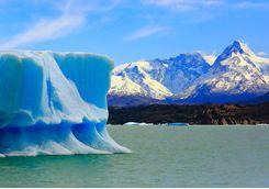 iceberg and mountain background