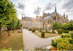 Gardens of the cathedral in Reims