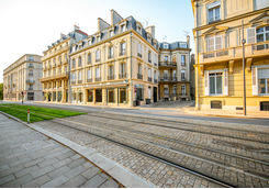 Street view in Reims city