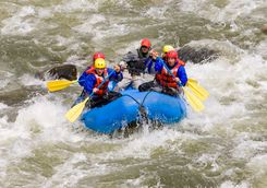 Whitewater rafting in rockies