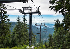 Chairlift in Grouse Mountain