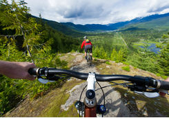 Cycling around Whistler