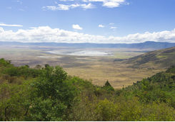 View of Ngorongoro from a hill