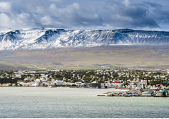 View of Akureyri from the sea