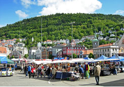 Fish market in Bergen