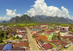 Vang Vieng Aerial View