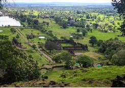 Wat Phou Aerial View