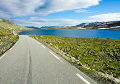 Road through the region of Valdres