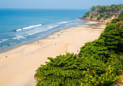 Aerial View of a Beach in Kerala