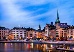 Stockholm in the evening