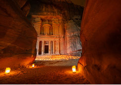 Petra at Night with Candle Lights