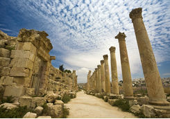 Roman Columns in Jerash