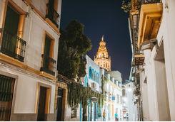 Street in the evening in Cordoda