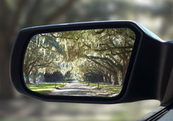Charleston in rear view mirror